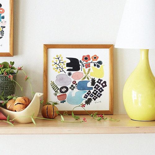 IDEE BIRDS'WORDS グラフィック バーズ&フラワーズ ¥3,800+税