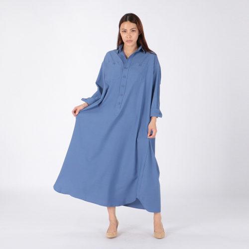 BLUEBIRD BOULEVARD/ドライタッチサッカーシャツドレス/¥39,000+税