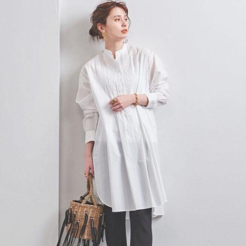 UNITED ARROWS   UWSC ピンタック ロングシャツ   ¥17,000+税