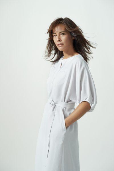 LAUTREAMONT/【大草直子さん コラボレーション第五弾】quick to go!FLEX DRESS【グレー】/¥24,000+税