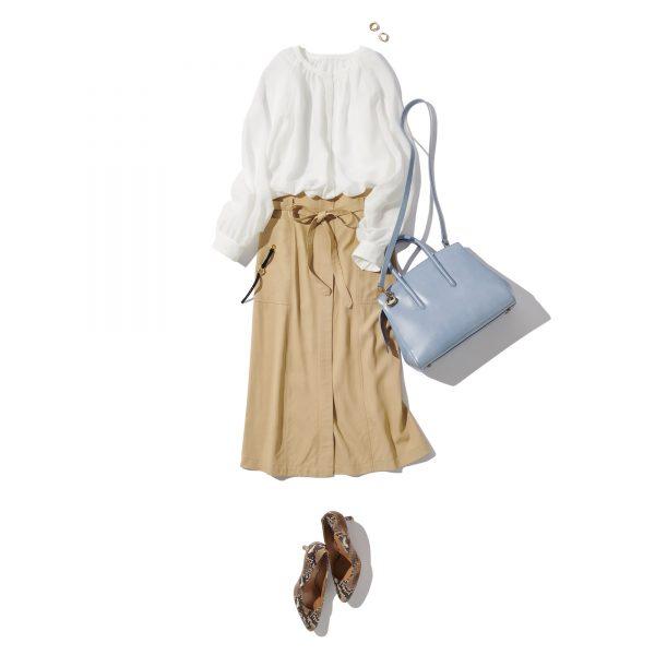 \今日のコーデ/着映える白とニュアンシーな透け感で女っぷりを光らせ印象を刷新【2020/6/12】