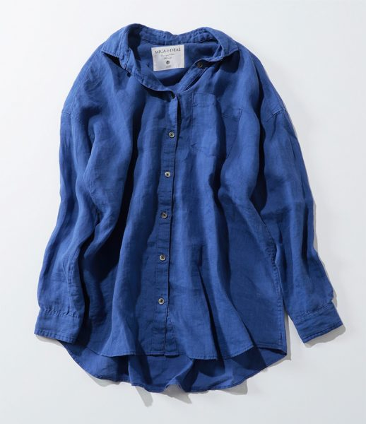MICA & DEAL linen over-dyed shirt