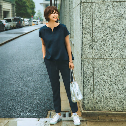 M7days for office とろみテーパードパンツ ¥14,000+税