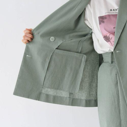 AG by aquagirl/【WEB限定Lサイズあり】コットンリネンダブルボタンジャケット/裏イメージ
