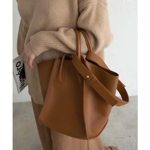 marjour SHOULDER TOTE BAG CAMEL or BLACK ¥6,900 + 税
