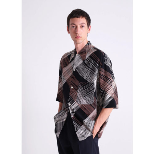 LEMAIRE CONVERTIBLE COLLAR SHIRT / CHECK PRINT ¥52,000+税