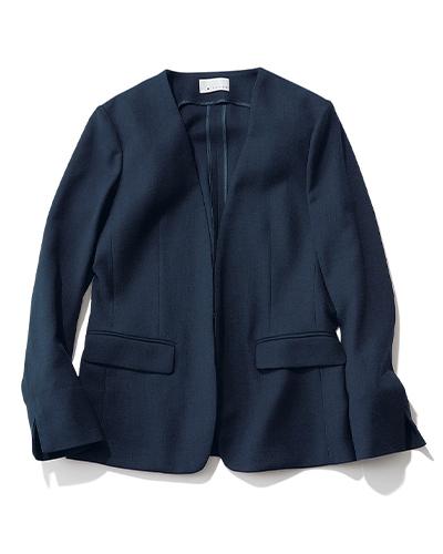 M7days(エムセブンデイズ)  【洗える】ノーカラージャケット