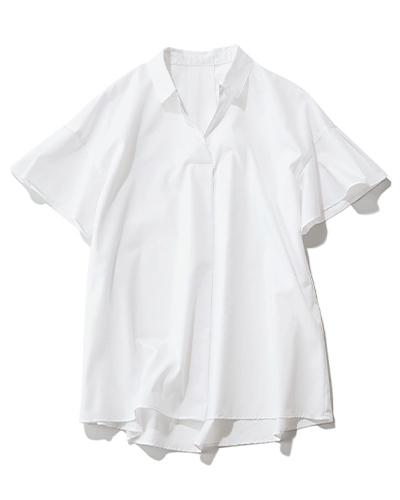 M7days(エムセブンデイズ)  【洗える】スキッパーシャツ