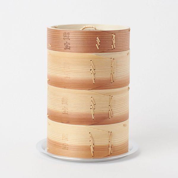 照宝 中華せいろ三段15cm(蒸し板セット) ¥5,080+税