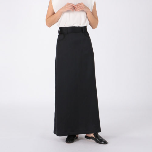 INSCRIRE Satin Maxi Skirt  ¥49,000+税