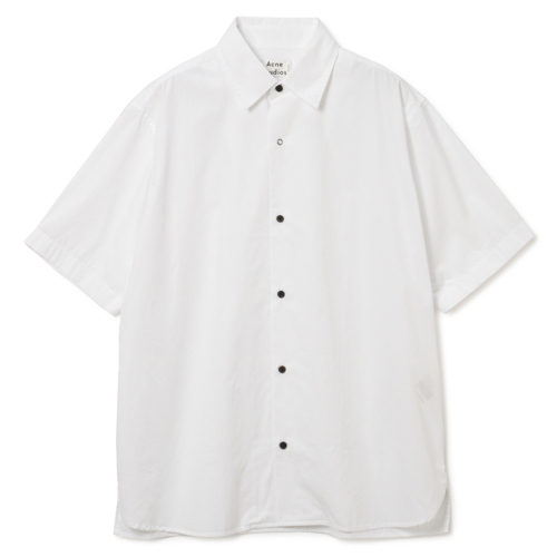 Acne Studios Short-Sleeved Cotton Poplin Shirt ¥25,000+税