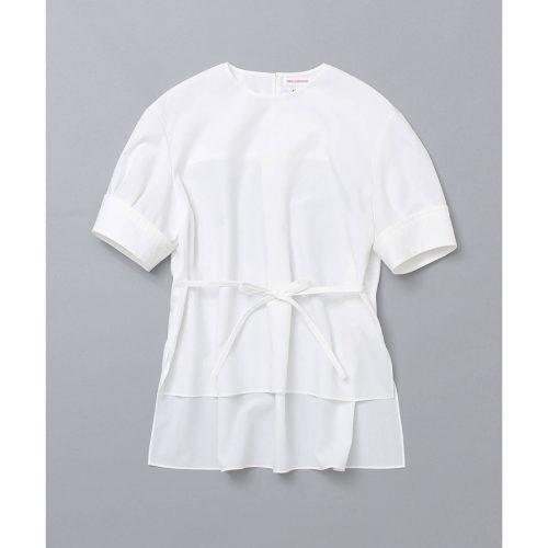DRESSTERIOR(Ladies)/《金子麻貴 tesorobabyコラボ商品》サイドリボンブロードブラウス(ホワイト)/¥18,000+税