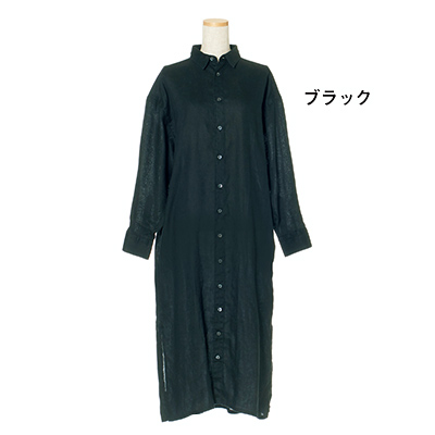 池田奈加子×Finamore シャツドレス ブラック