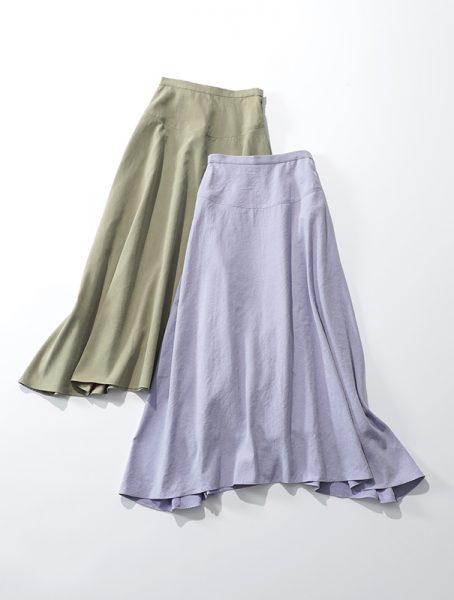 suadeo 手洗い可】微起毛ロングフレアスカート ¥17,000