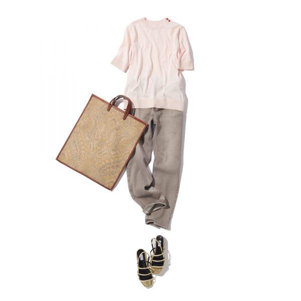 \今日のコーデ/Tシャツ感覚で着られるのにリッチムードな女っぷり【2020/7/7】