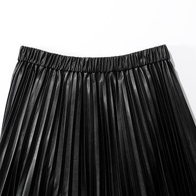suadeo サスティナブルレザープリーツスカート イメージ1