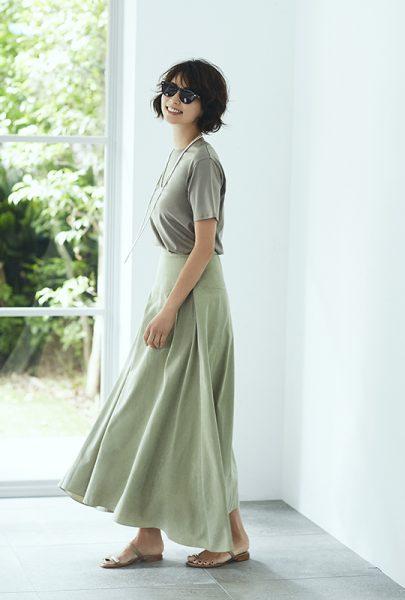suadeo 【手洗い可】微起毛ロングフレアスカート イメージ4