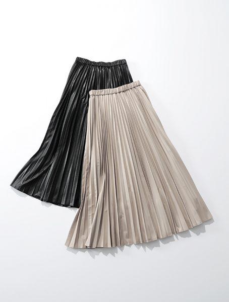 suadeo サスティナブルレザープリーツスカート ¥22,000