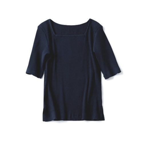 12closet 【福田麻琴さんコラボ】【洗える】2WAYリブTシャツ ¥7,800+税