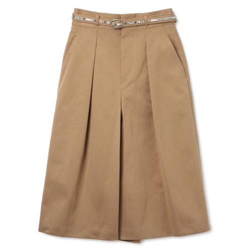 beautiful people selvedge logo chino culotte skirt ¥45,000