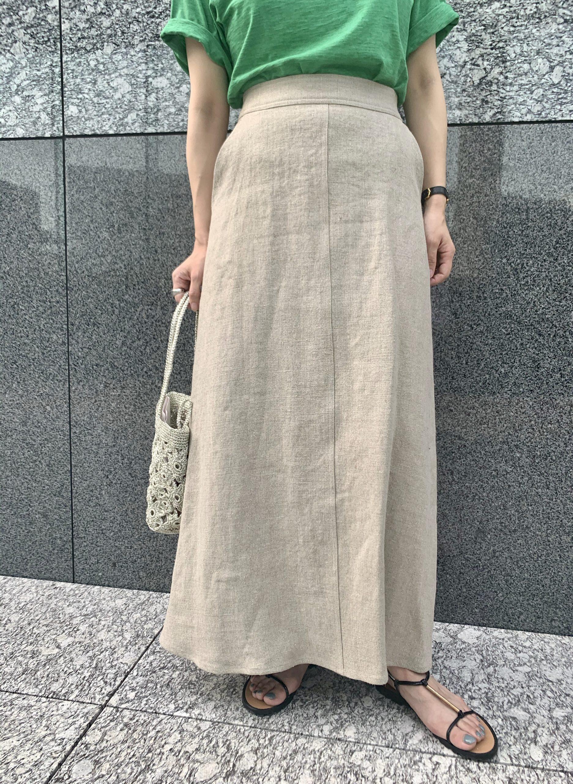 Shinzone リネンフレアスカート ¥26,000+税