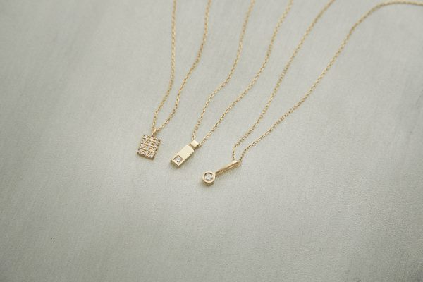 COCOSHNIK K10 YG ダイヤモンドネックレス