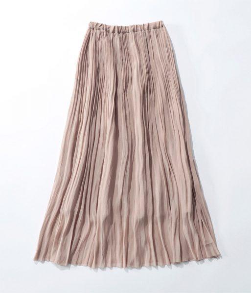 SACRA AIRY CRYSTAL プリーツスカート