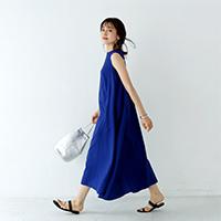 裾ゆれマキシワンピース/12closet
