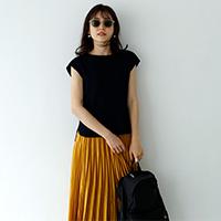フレンチスリーブ ワッフルTシャツ/12closet