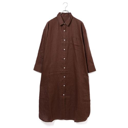ViS/【WEB限定】リネンシャツロングワンピース/¥6,900 +税