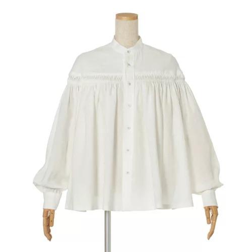 Scye / 前開きリネンタックシャツ/¥39,000+税
