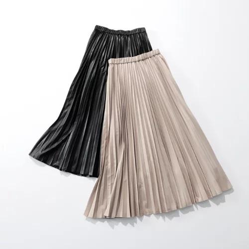 suadeo サスティナブルレザープリーツスカート ¥22,000+税