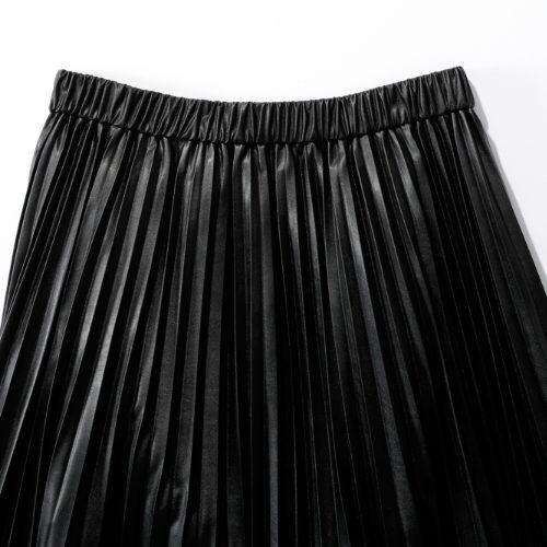 suadeo/サスティナブルレザープリーツスカート/¥22,000+税