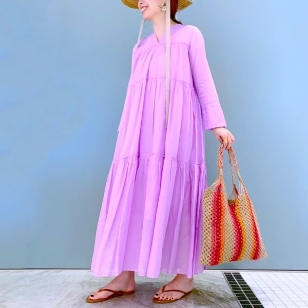 ne Quittez pas COTTON VOILE TIERED DRESS ¥18,000 ¥12,600+税(30%OFF)