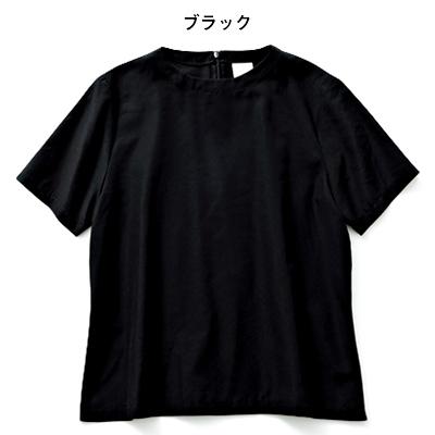 12closet Tシャツ風ブラウス ブラック