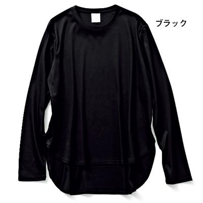 スムースクルーネック カットソー(ブラック)/12closet