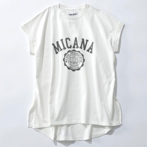 MICANA 【AMERICANA】×【MICA&DEAL】カレッジロゴTシャツ ¥8,000
