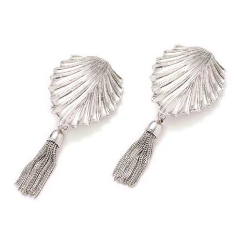 TOGA PULLA Metal fringe earrings ¥15,000+税
