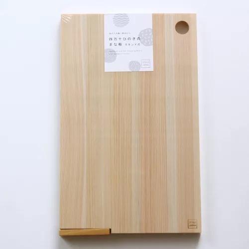 e.oct/STYLE JAPAN 四万十の森に育まれたひのきのまな板 スタンド式 Lサイズ/¥4,200+税