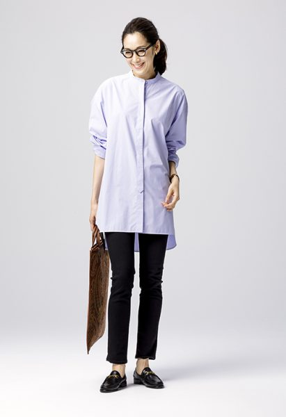 suadeo JAPAN BLUE【Urvin】コラボレーション ハイパーストレッチスリム見えデニム ¥17,000+税着用イメージ4
