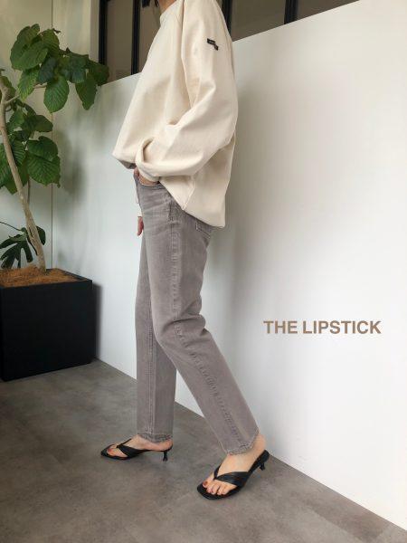 upper hights THE LIPSTICK ストレートデニム(グレージュ系) ¥23,000+税