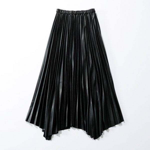 SACRA エコレザープリーツスカート