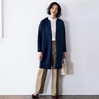ダブルフェイスジャケットコート/12closet