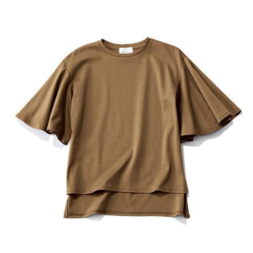 M7days 袖フレアトップス ¥9,900+税