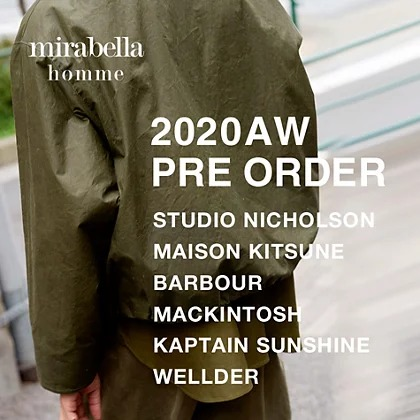 mirabella homme AW20 PRE ORDER