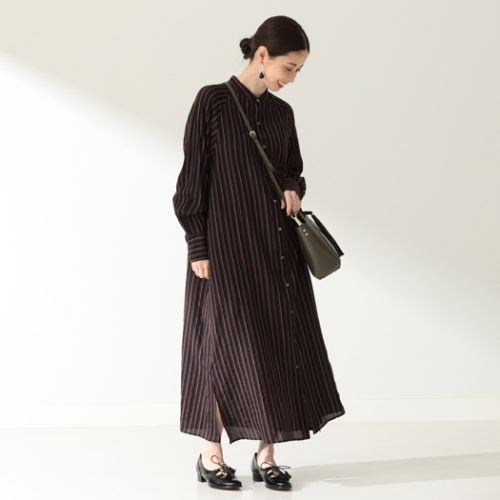 Demi-Luxe BEAMS/TICCA / スタンドカラー シャツワンピース/¥36,000+税