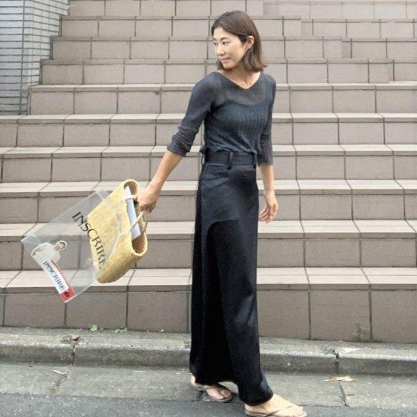 INSCRIRE Satin Maxi Skirt ¥49,000→ ¥24,500+税(50%OFF)