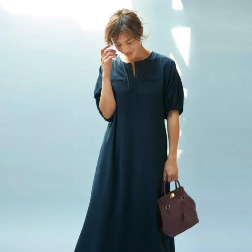 【大草直子さん コラボレーション第五弾】/quick to go!FLEX DRESS/¥24,000→¥12,000+税(50%OFF)