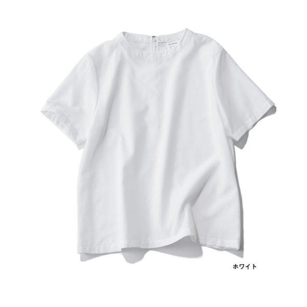 洗えるTシャツ風ブラウス ホワイト/12closet