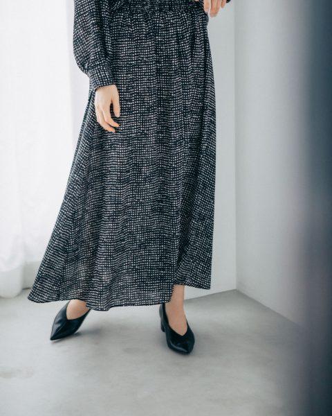 LAUTREAMONT/《大草直子さんコラボ【OWN】1st Collection》ウエストシャーリングスカート《セットアップ対応》/¥19,000+税【フレアラインアップ】